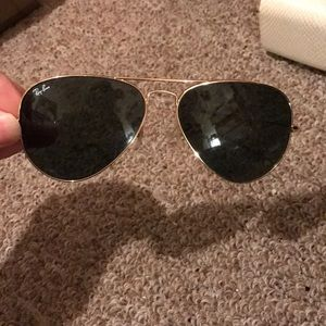Ray-Ban Authentic sunglasses gold.